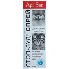 Спрей Api-San Стоп-зуд для лечения заболеваний кожи и отитов для собак и кошек, 30мл