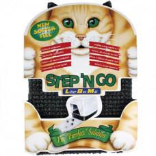 Коврик Flamingo Litter Box Mat для туалета кошки, пластик, серый, 30х45х2 см