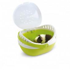 Переноска Savic Elmo Large для грызунов, пластик, серая, 30.5×24.5×20.5 см