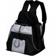 Рюкзак-переноска Trixie Tamino, для собак, 32x37x24см, черный/серый