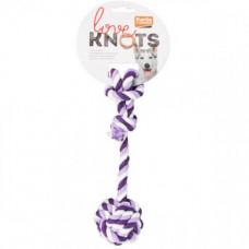 Игрушка Flamingo Cotton Rope Knot канат с одним узлом для собак