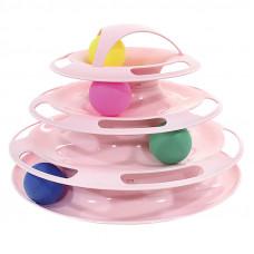 Игрушка для кота Taotaopets 077705 Башня 25x16.5см Розовый