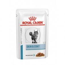 Влажный корм Royal Canin Skin & Coat при дерматозе и выпадении шерсти у кошек, 85 г