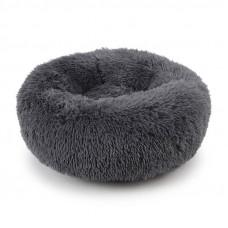 Лежак пуфик для котов и собак Taotaopets 552201 круглый L Dark Grey