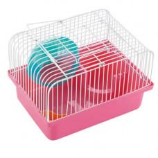 Клетка AnimAll Cube для хомяка 23.2x17х12 см, розовая