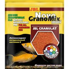 Основной корм в виде мини-гранул JBL NovoGranoMix mini для всех видов аквариумных рыб 30мл