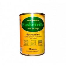 Влажный корм Baskerville для собак, петух с рисом и цуккини 400 г