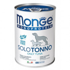 Влажный корм MONGE DOG SOLO 100% тунец 0,4 кг