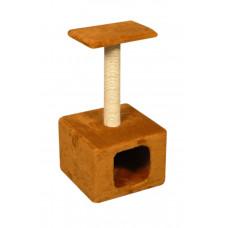 Домик-когтеточка (дряпка) Мур-Мяу Дом-1 в джутовой веревке Коричневый