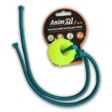 Игрушка AnimAll Fun шар с канатом 4 см Желтая