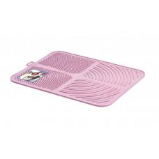 Пластиковый коврик GeorPlast Alladin под туалет размер 41.5х32 см Розовый