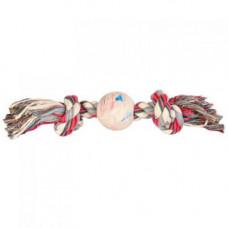 Игрушка веревка узловая Trixie с мячом для собак, 7 см/36 см, хлопок