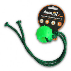 Игрушка AnimAll Fun шар с канатом 4 см Зеленый