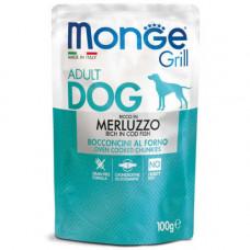 Влажный корм MONGE DOG GRILL с треской 0,1 кг