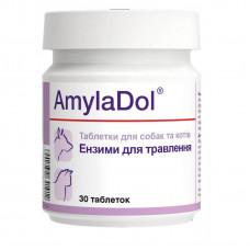 Витаминно-минеральная кормовая добавка Dolfos AmylaDol для улучшения пищеварения кошек 30 таблеток