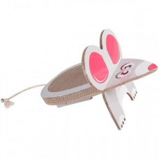 Когтеточка Flamingo Mouse Scratching Board для котов, гофрокартон, 45×29×29 см