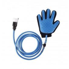 Перчатка-душ для мойки животных 2Life QL-018 Голубой