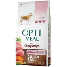 Беззерновой сухой корм Optimeal для взрослых собак всех пород, с индейкой и овощами, 10 кг
