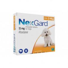 Таблетки Boehringer Ingelheim NexGard от блох и клещей для собак S 2-4кг 1 таблетка