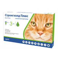 Капли Stronghold Плюс Zoetis для борьбы и профилактики паразитов для кошек 5-10 кг 60 мг