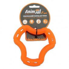 Игрушка AnimAll Fun кольцо 6 сторон 12 см Оранжевое