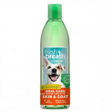 Добавка в воду TropiClean Oral Care Water Additive Skin & Coat с Омега 3 и Омега 6 для собак и кошек, 473 мл