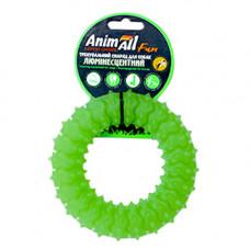 Игрушка AnimAll Fun кольцо с шипами для собак, люминесцентная, 12 см, зеленая