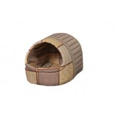 Домик-лежак (лежанка) для котов и собак Мур-Мяу Комфорт Бежевый