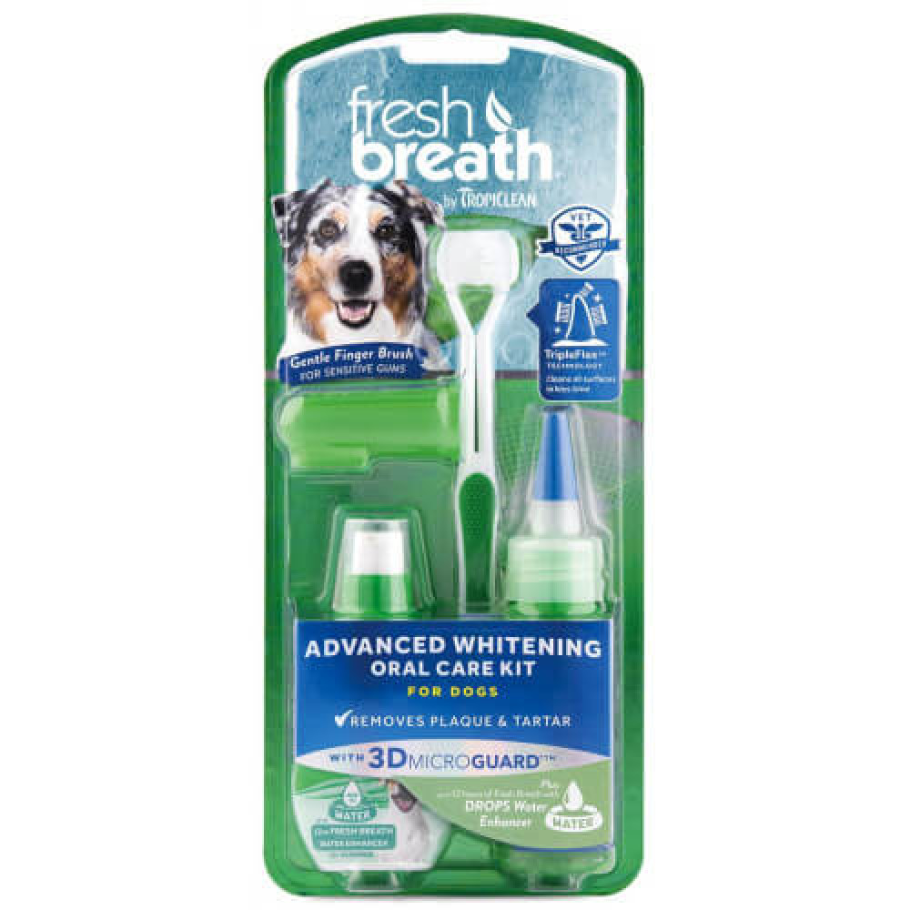 Набор Тропиклин для ухода за ротовой полостью собак средних и крупных пород Tropiclean Oral Care Kit Large