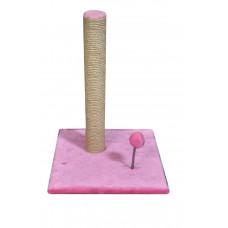 Когтеточка (дряпка) Мур-Мяу Пружина Розовая
