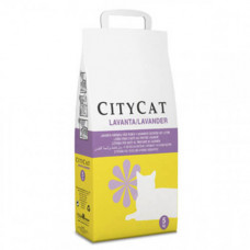 Впитывающий наполнитель Sanicat CityCat Parf для кошачьего туалета c ароматом лаванды, 5 кг