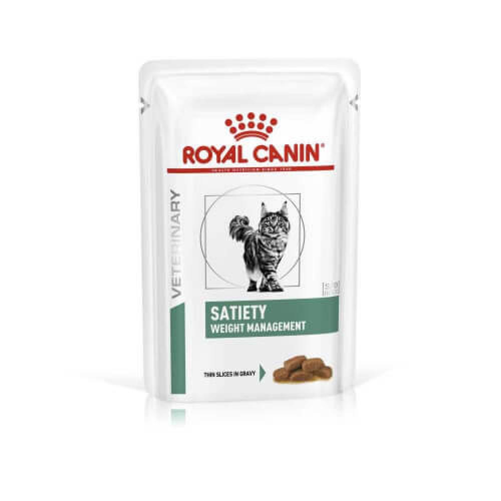 Влажный корм Royal Canin Satiety Weight Management для кошек при ожирении, кусочки в соусе, 85 г