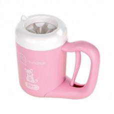 Лапомойка Hoopet W037 емкость для мытья лап домашних животных Pink S