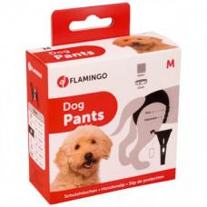 Гигиенические трусы Flamingo Dog Pants Jolly с комплектом прокладок, для собак, черные, 50×59 см