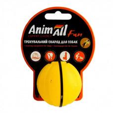 Игрушка AnimAll Fun тренировочный мяч для собак, 5 см, желтая