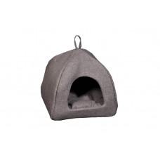 Домик-лежак (лежанка) для котов и собак Мур-Мяу Юрта-2 Коричневый