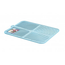 Пластиковый коврик GeorPlast Alladin под туалет размер 41.5х32 см Голубой