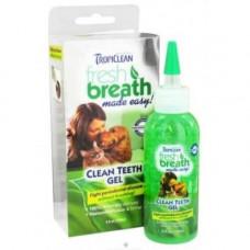 Гель для чистки зубов TropiClean Clean Teeth Gel для кошек и собак, 118 мл