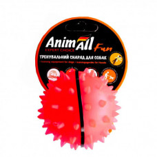 Игрушка AnimAll Fun мяч каштан для собак, 7 см, коралловая