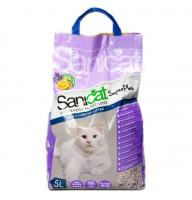 Комкующийся наполнитель Sanicat SuperPlus для кошачьих туалетов с ароматом апельсина и лаванды, 5л
