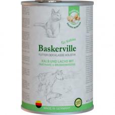 Влажный корм Baskerville Holistic Kalb und Lachs для котов, телятина и лосось, 400 г