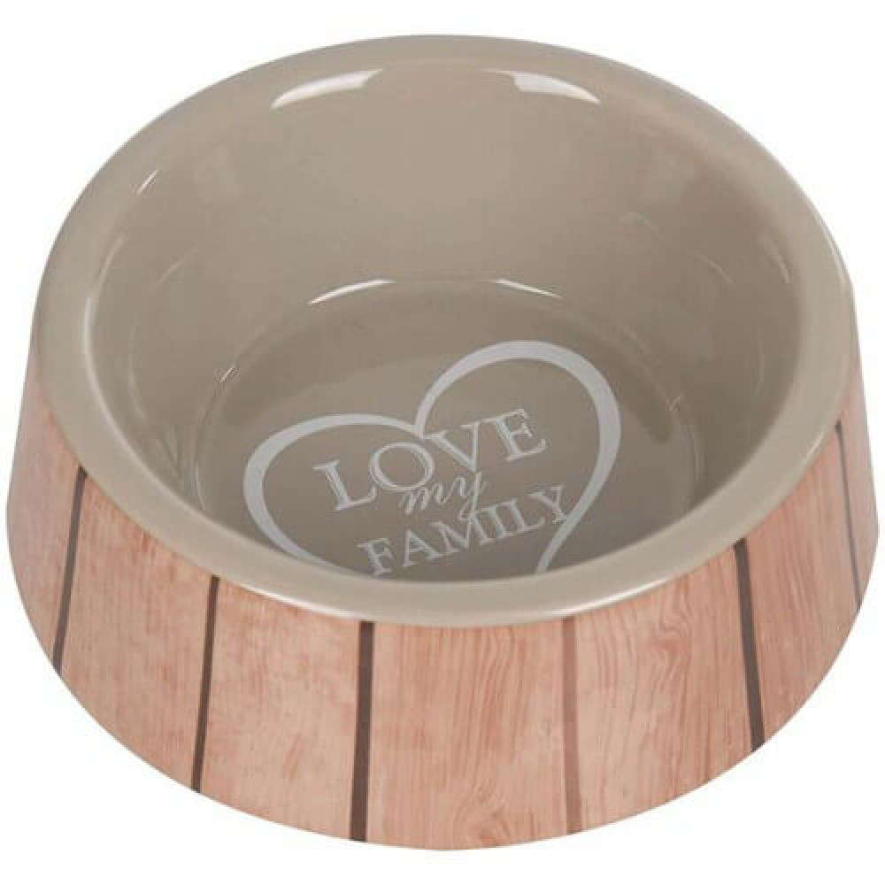 Миска Flamingo Shabby Chic Bowl Heart для собак, керамика, 400мл