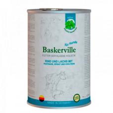 Влажный корм Baskerville Holistic для собак, лосось и говядина с пастернаком, шпинатом и зеленью, 400 г