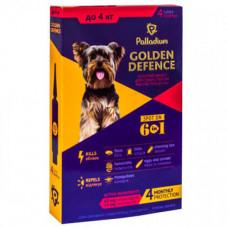 Капли на холку Palladium Golden Defence от блох, вши, клещевые заболевания для собак до 4 кг, 0,5 мл