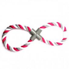 Игрушка Flamingo Cotton Pull Rope 8 Form веревочная для собак, 8-образной формы, 38 см