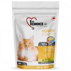 Сухой корм 1st Choice Senior Mature Less Aktiv для пожилых или малоактивных кошек от 10 лет, 350гр