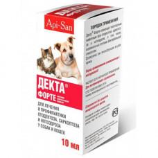 Капли ушные Api-San Декта Форте при отодектозе для собак и кошек, 10 мл