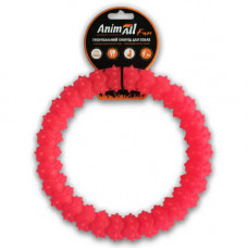 Игрушка AnimAll Fun кольцо с шипами 20 см Коралловое