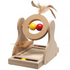Игрушка Flamingo Tumbler для кошек, дерево, 17х20х30 см