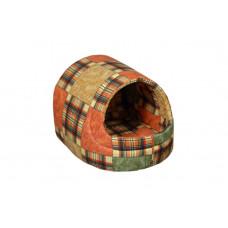 Домик-лежак (лежанка) для котов и собак Мур-Мяу Комфорт Коричневый